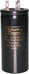 Gold Cap 50uF+50uF 500V TAD
