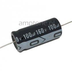 Kondensator 100uF 160V, osiowy