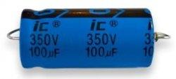 Kondensator 100uF 350V osiowy Illinois