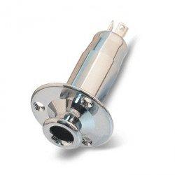 Gniazdo Jack 6,3mm stereo cylindryczne chrom