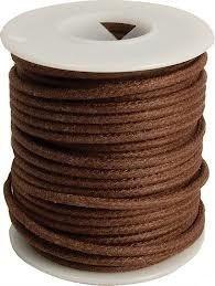 Kabel vintage brązowy solid core (0,55mm2)