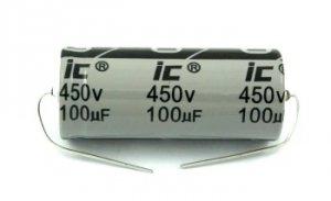 Kondensator 100uF 450V osiowy Illinois