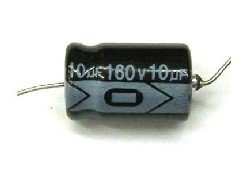 Kondensator 10uF 160V, osiowy