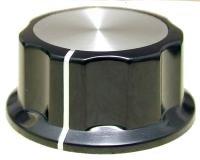Gałka profilowana X1-45 czarna (45x25)