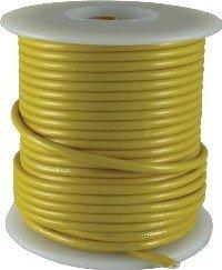 Kabel jednożyłowy żółty 0,35mm2 Hook-up