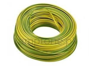 Kabel jednożyłowy żółto-zielony 1x0,75mm H05