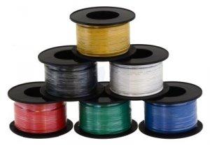 Kabel jednożyłowy solid 0,25mm2 biały (drut)