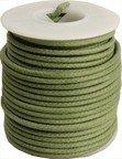 Kabel vintage zielony solid core (0,55mm2)
