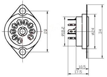 Podstawka Noval  9pin typ2