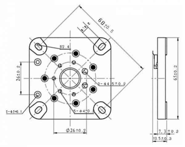 Podstawka 7pin typ4 septar Gold 813