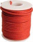 Kabel vintage czerwony solid core (0,55mm2)
