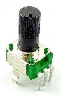 Alpha 9mm plastic - 500k/A logarytmiczny