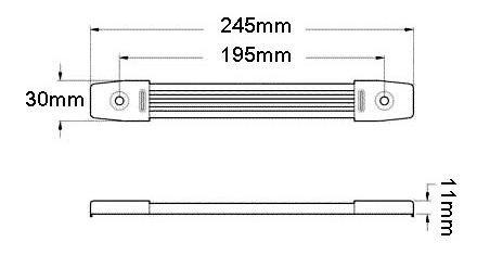 Rączka paskowa, niklowana styl Fender