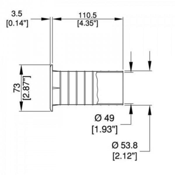 Tuba Bass Reflex 50mm