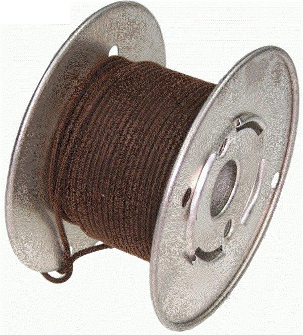 Kabel vintage brązowy solid 0,35mm2