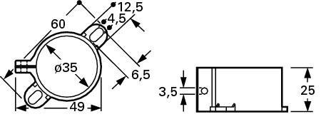 Obejma do kondensatorów 35mm F&T