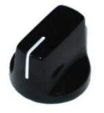 Gałka styl Fulltone, czarna push-on