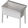 stół z basenem 1-komorowym spawany 800x600x850 mm h=400 mm Stalgast