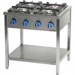 kuchnia gazowa wolnostojąca 4 palnikowa z półką 22,5kW - (G30) propan-butan