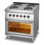 Kuchnia elektryczna 4-płytowa z piekarnikiem elektrycznym GN2/1 L700.KEO4 PE Lozamet