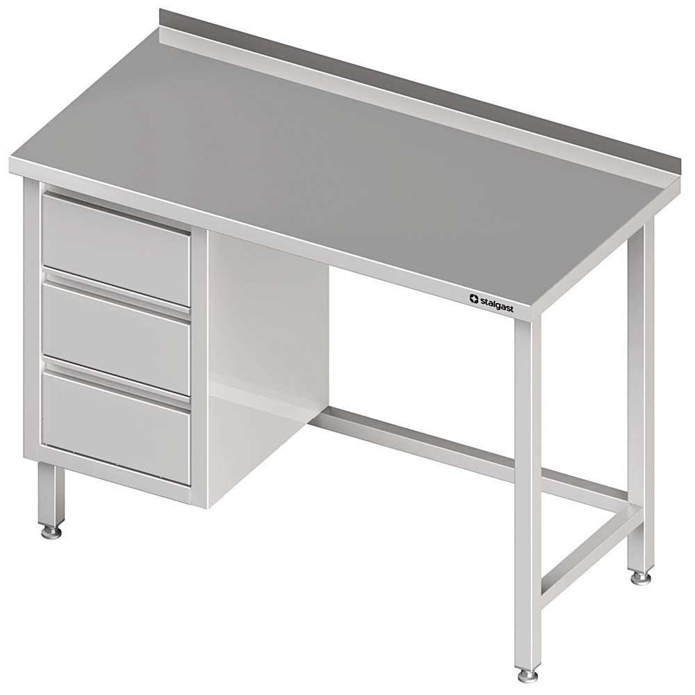 Stół Przyścienny Z Blokiem Trzech Szuflad Lbez Półki 1800x600x850 Mm