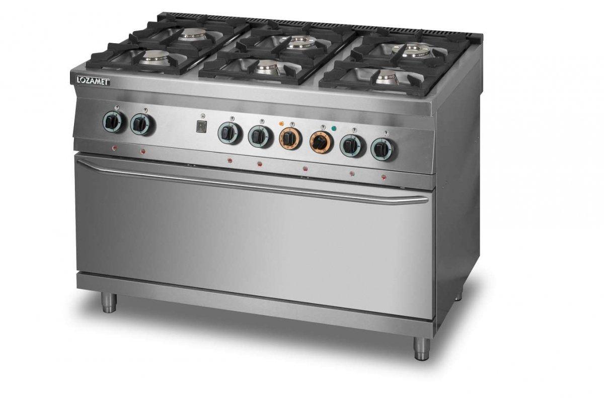 Kuchnia Gazowa 6 Palnikowa Z Piekarnikiem Elektrycznym 3xgn11 L900kg6 Pe Max Lozamet