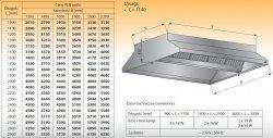 Okap centralny z oświetleniem lo 911 - 2800x1200