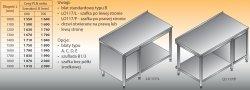 Stół roboczy z szafką i półką lo 117/l; lo 117/p 1600/600