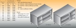 Stół roboczy z blokiem szuflad i szafką otwartą lo 136/s2 - 1300x700