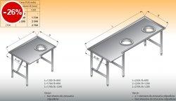 Stół sortowniczy kątowy prawy lo 308 - 1200x800 Lozamet