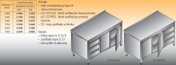 Stół roboczy z blokiem szuflad i szafką lo 137/s3 - 1800x600