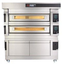 Wielokomorowy elektryczny piec do pizzy i piekarniczy S125E piec jednokomorowy z okapem i bazą