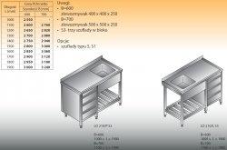 Stół zlewozmywakowy 1-zbiornikowy lo 210/s3 - 1900x600