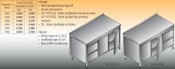 Stół roboczy z blokiem szuflad i szafką lo 137/s2 - 1800x700