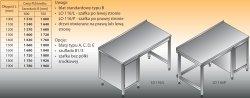 Stół roboczy z szafką lo 116/l; lo 116/p 1300/600