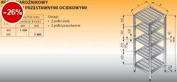Regał narożnikowy z półkami przestawnymi ociekowymi lo 609 - 600x600