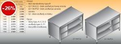 Stół roboczy z blokiem szuflad i szafką otwartą lo 136/s2 - 1000x600