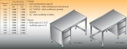 Stół roboczy z blokiem szuflad lo 134/s2 - 1600x600