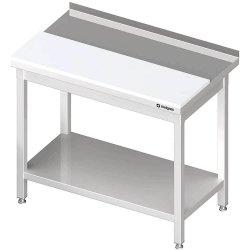 stół przyścienny z płytą polietylenową,i półką 1900x600x850 mm spawany