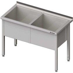 Stół z basenem 2-komorowym spawany 1300x600x850 mm h=400 mm
