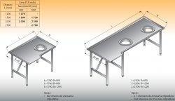 Stół sortowniczy kątowy prawy lo 308 - 2200x1200 Lozamet