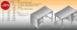 Stół roboczy z blokiem szuflad lo 134/s2 - 1000x600