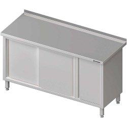 Stół przyścienny z szafką (P),drzwi suwane 1300x700x850 mm