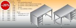 Stół roboczy z blokiem szuflad lo 134/s3 - 1000x600
