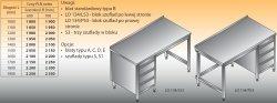 Stół roboczy z blokiem szuflad lo 134/s3 - 1100x700
