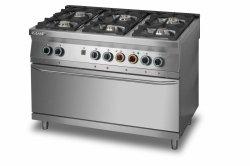 Kuchnia gazowa 6-palnikowa z piekarnikiem elektrycznym 3xGN1/1 L900.KG6 PE max Lozamet