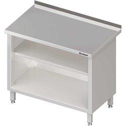 Stół przyścienny, zabudowany z 2-ma półkami 700x600x850 mm