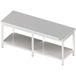 Stół centralny z półką 2400x700x850 mm spawany