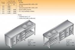 Stół zlewozmywakowy 2-zbiornikowy lo 258/s3 2700x600
