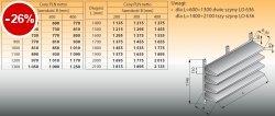 Cztery półki naścienne z szynami lo 634 - 1500x300